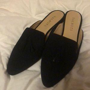 Talbots black slip on shoes